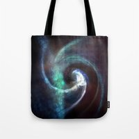 under the sea Tote Bags featuring Under Sea by Nicki Hart