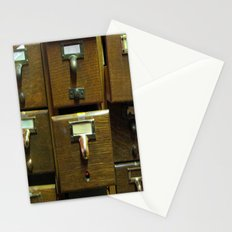 Used Card Catalog (Full of Toys) Stationery Cards