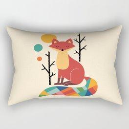 Rainbow Fox Rectangular Pillow