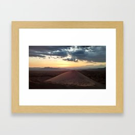 At the Top of Kelso Dunes Framed Art Print