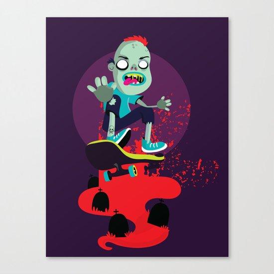 Skater zombie Canvas Print
