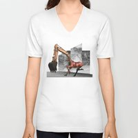 mustang V-neck T-shirts featuring Mustang by Lerson