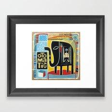 Otomatic Wash Framed Art Print