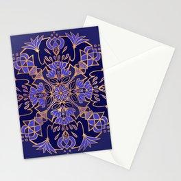 Lotus Mandala - Blue and Gold Stationery Cards