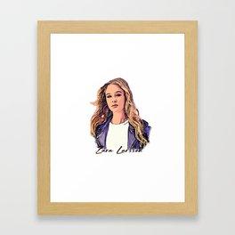 Zara Larsson Desain 005 Framed Art Print