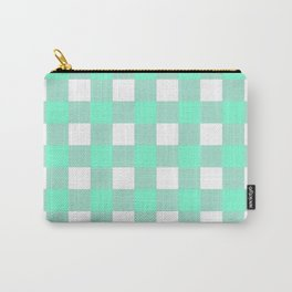 Gingham (Aquamarine/White) Carry-All Pouch
