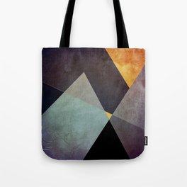 Purple Yellow Geometric Abstract Tote Bag