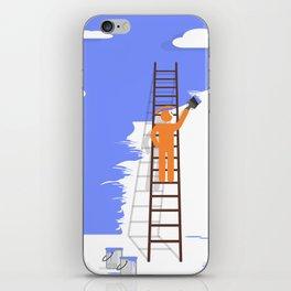 blue glance iPhone Skin