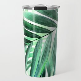 Tropical green leaves design Travel Mug