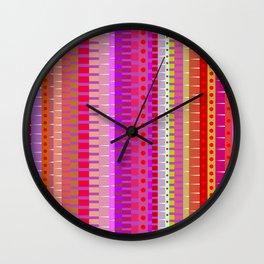 Color Stripes 1 Wall Clock