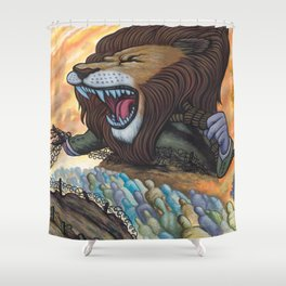 Sentry The Defiant Shower Curtain