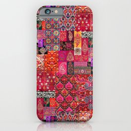 N98 - Traditional Heritage Boho Oriental Moroccan Collage Style. iPhone Case