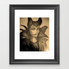 maleficent sketch Framed Art Print