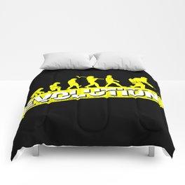 Ice Hockey Player Evolution Sport Trainer Coach Goalie Funny Team Goalkeeper Defender Gift Idea Comforters