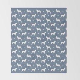 boston terrier silhouette pattern Throw Blanket
