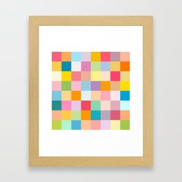Candy colors Framed Art Print