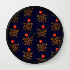 Orange Garden Wall Clock