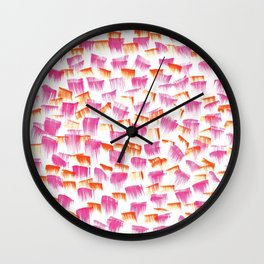 Bat her eyelids Wall Clock