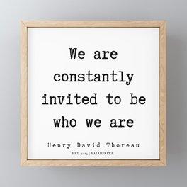 78     Henry David Thoreau Quotes    190715   Framed Mini Art Print
