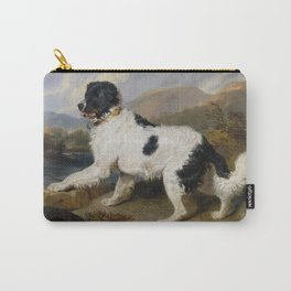 Edwin Landseer- Lion A Newfoundland Dog Carry-All Pouch