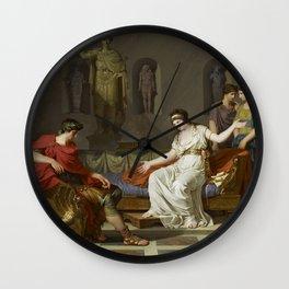 Cleopatra and Octavian Wall Clock