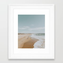 summer beach Framed Art Print