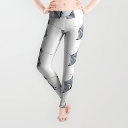 Manta ray devil fish Leggings