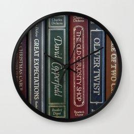 Dickens Books Wall Clock