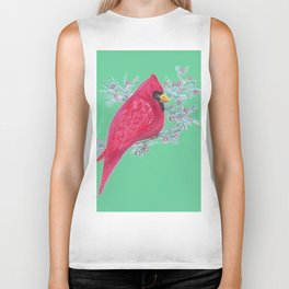 Cardinal And Berries Biker Tank