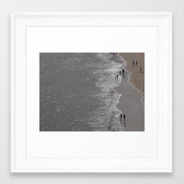Enjoying the sea Framed Art Print