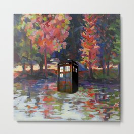 TARDIS PAINT Metal Print