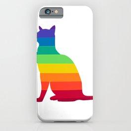 LGBT Rainbow Gay Pride Cat iPhone Case