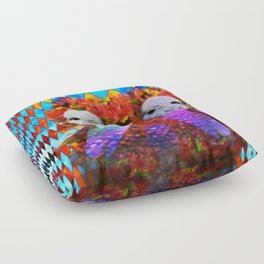 """Just One More Girl and a Flame Tree"" by surrealpete Floor Pillow"