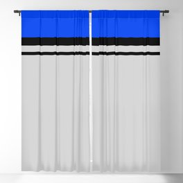 Cross Lines in blues Blackout Curtain