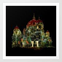 Berlin Cathedral at Night Art Print