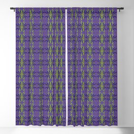 Marijuana Leaves Ultra Violet Pattern Blackout Curtain