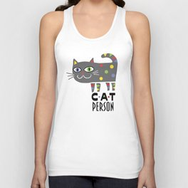 Cat Person Unisex Tank Top