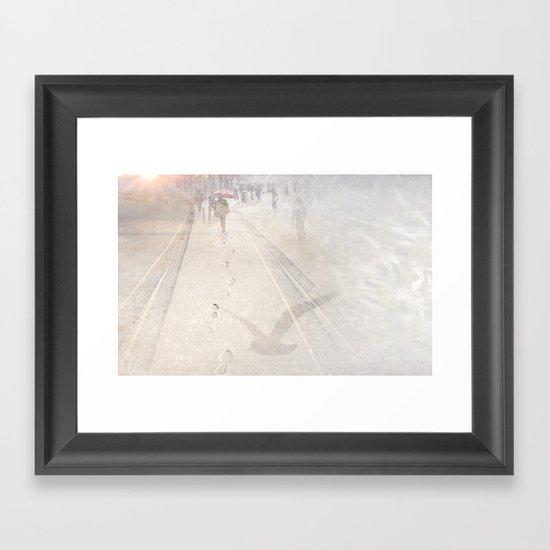 Going towards winter Framed Art Print