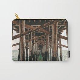 Balboa Pier Print {1 of 3} | Newport Beach Ocean Photography Teal Summer Sun Wave Art Carry-All Pouch