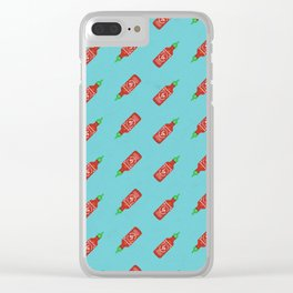 Sriracha Pattern Clear iPhone Case