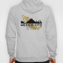 MEXICO CITY MEXICO SILHOUETTE SKYLINE MAP ART Hoody