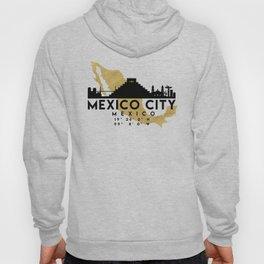 MEXICO CITY MEXICO SILHOUETTE SKYLINE MAP ART Hoody
