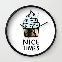 Nice Times Cupcake Wall Clock
