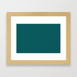 Pantone 19-4524 Shaded Spruce Framed Art Print