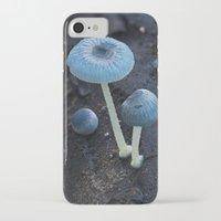 pixies iPhone & iPod Cases featuring Pixies Parasol (Mycena interrupta) by Clusterpod