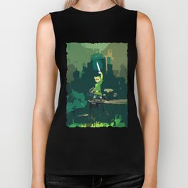 Legend Of Zelda Link Painting Art Biker Tank