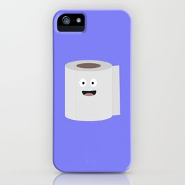Toilet paper with face iPhone Case