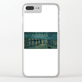 The starry night over the Rhône, 1888, Vincent van Gogh, Musée d'Orsay, Paris. Clear iPhone Case