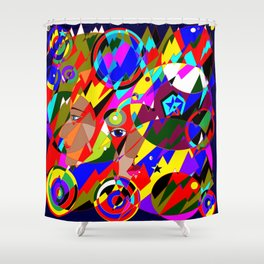 Abstract Great Galactic Globes Shower Curtain