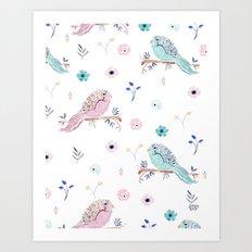 PANTONE BIRDS Art Print